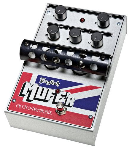 Electro-Harmonix ENGLISH MUFF'N Tube Distortion/Preamp Pedal, PSU Included ENGLISHMUFFIN