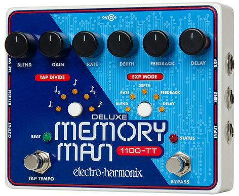 Electro-Harmonix Deluxe Memory Man 1100-TT Analog Delay Pedal DELUXEMMTAP-1100