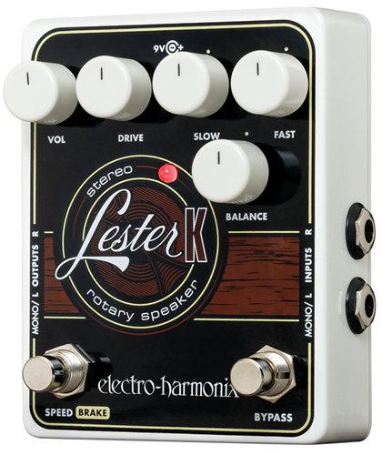 Electro-Harmonix Lester K Stereo Rotary Speaker Emulator Effect Pedal LESTER-K