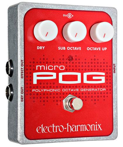 Electro-Harmonix MICRO-POG Polyphonic Octave Generator, PSU Included MICRO-POG