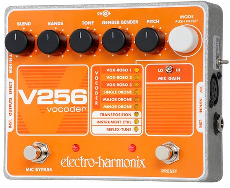 Electro-Harmonix V256 Vocoder Pedal withReflex Tune, PSU Included V256