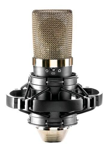 Apex Electronics Apex415B Large Diaphragm Condenser Microphone with 3 Pickup Patterns & Shockmount APEX415B