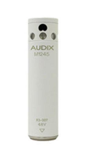 Audix M1255BW White Miniature Condenser Mic, RFI Shielded, High-Sensitivity, Cardioid M1255BW