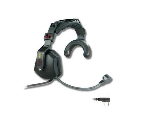 Eartec Co USKW3300IL  Ultra Single Heavy Duty Headset with Kenwood 2-Pin Plug & Inline PTT USKW3300IL