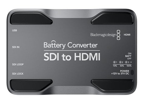 Blackmagic Design CONVBATT/SH [RESTOCK ITEM] SDI to HDMI Mini Converter with Battery CONVBATT/SH-RST-02