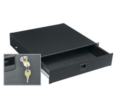 """Middle Atlantic Products TD2LK 2 Space 3.5"""" Textured Rack Drawer with Lock TD2LK"""