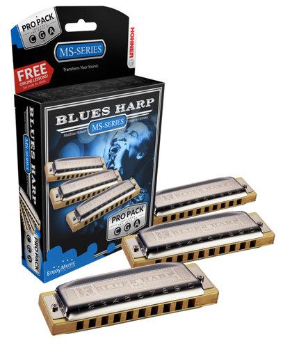 Hohner 3P532 Blues Harp Pro Pack 3P532