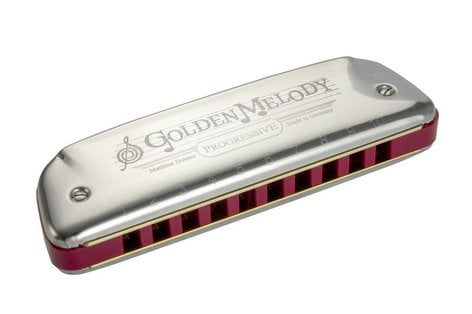 Hohner 542BX Golden Melody 10-Hole Harmonica 542BX