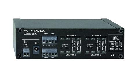 RDL RU-SM16D  4 Channel Audio Meter - Average/Peak/Hold  RU-SM16D