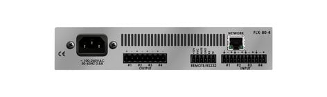 Stewart Audio FLX80-4-LZ-D Rack-Mountable 80W x 4-Channel DSP-Enabled Analog Amplifier @ 4 Ohms with Dante FLX80-4-LZ-D