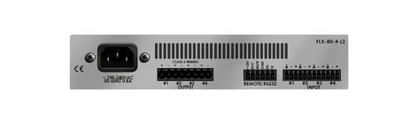 Stewart Audio FLX80-4-LZ Rack-Mountable 80W x 4-Channel DSP-Enabled Analog Amplifier @ 4 Ohms FLX80-4-LZ