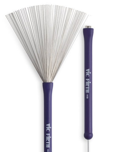 Vic Firth Heritage Brush Retractable Wire Brush with Rubber Handle HB