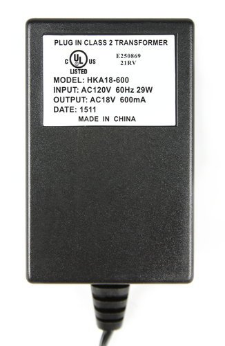 Mackie 2045242-00 18V 600MA AC Adaptor for Mix5 and Mix8 2045242-00