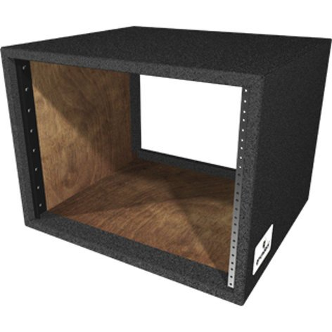 "Grundorf Corp RS-08D 8RU Carpet Series Rack Shell with 17.75"" Rackable Depth RS-08DB"