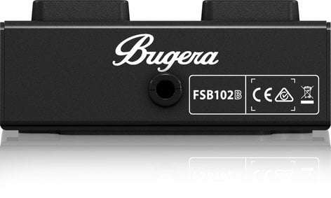 Bugera FSB102B 2-Button Footswitch with Metal Case and Control LEDs FSB102B