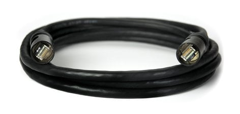 Whirlwind ENC6ASE150  Shielded Cat6a Cable with Ethercon Connectors, 150 ft ENC6ASE150