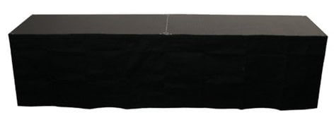 "Show Solutions Inc DD-SKIRT4824 24"" x 48"" Black Stage Skirt DD-SKIRT4824"