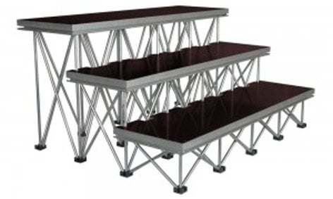 """Show Solutions Inc DD-4812R24  4ft x 1ft 24"""" Stair Package with 3 steps DD-4812R24"""