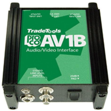 Pro Co AV1B A/V Interface with 3.5mm Connector AV1B