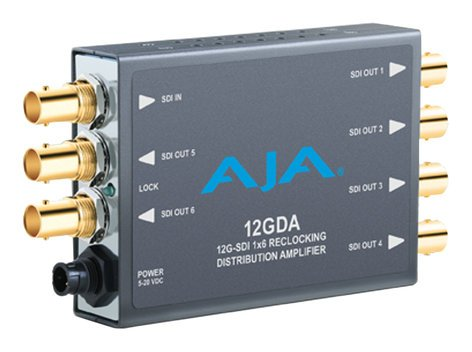 AJA 12GDA  1x6 12G HD/SD SDI Reclocking Distribution Amplifier  12GDA