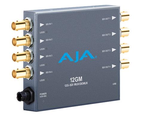 AJA 12GM  12G/6G/3G/1.5G HD/SD SDI Muxer/DeMuxer 12GM