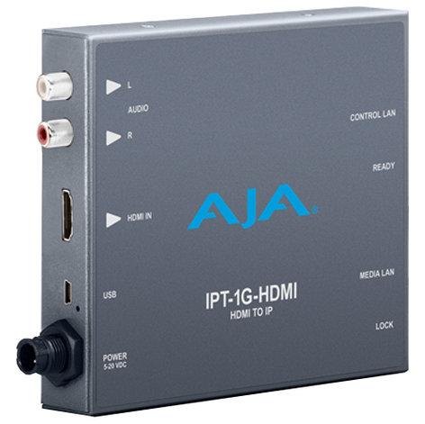 AJA Video Systems Inc IPT-1G-HDMI  HDMI to JPEG 2000 IP Video and Audio Mini-Converter  IPT-1G-HDMI