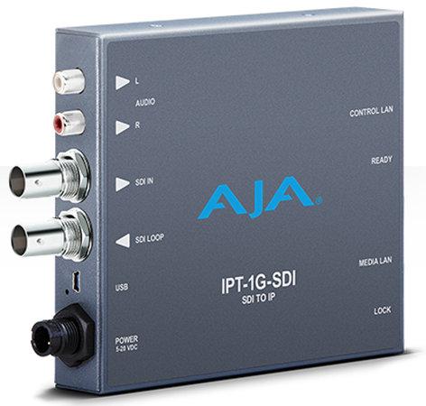 AJA IPT-1G-SDI  3G-SDI to JPEG 2000 IP Video and Audio Mini-Converter  IPT-1G-SDI