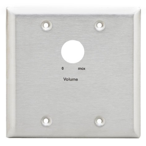 Lowell KL-ANP2  Stainless Steel Attenuator Adaptor Wall Plate KL-ANP2