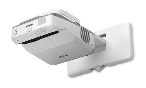 Epson PowerLite 675W 3200 Lumen WXGA 3LCD Ultra Short Throw Projector with Presentation Display, Mount NOT Included POWERLITE-675W