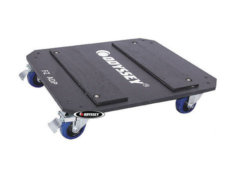 "Odyssey FZADP  Flight Zone Series Dolly Plate with 3.5"" Swivel Casters, for FZAR Series Amp Racks FZADP"