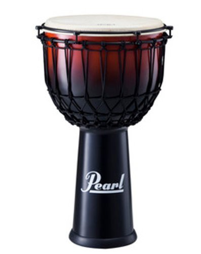 "Pearl Drums PJF-350RX632 14"" EZ Tune Djembe in Cranberry Fade Finish PJF-350RX632"