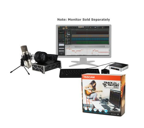 Tascam Track Factory Project Intel NUC PC with Sonar Pro, US-2X2TP USB Interface, TM-80 Mic, and TH-02 Headphones TRACK-FACTORY-PROJ