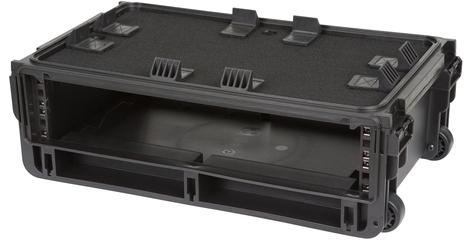SKB Cases 1SKB-iSF2U Injection Molded 2RU Rack Studio Flyer Rack and Laptop Combo Case 1SKB-ISF2U