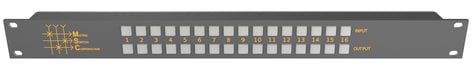 Matrix Switch Corporation MSC-CP16X16E  16x16 Elastomeric Remote Button Panel  MSC-CP16X16E