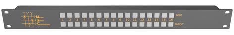 Matrix Switch Corporation MSC-CP16X16E  16x16 Elastomeric Remote Button Panel  MSC-CP16X16E