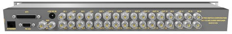 Matrix Switch Corporation MSC-DE1616L  16 Input 16 Output AES Audio Router With Button Panel MSC-DE1616L