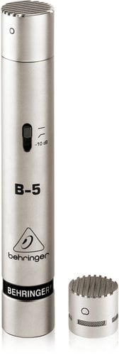 Behringer B-5 Microphone Small Condenser with omni and cardioid capsules B-5