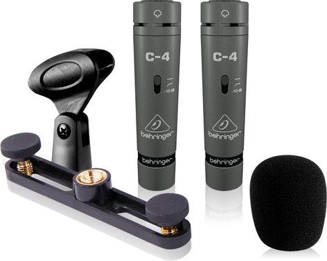 Behringer C-4 1 Pair of Single Diaphragm Condenser Microphones C-4