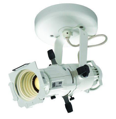 ETC/Elec Theatre Controls 4MLFB-4K-1  4000k Portable Source Four Mini LED Fixture Body in White 4MLFB-4K-1
