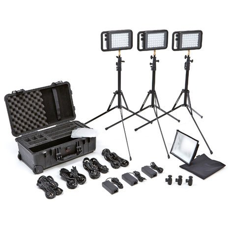Litepanels Lykos Bi-Color Flight Kit All-In-One Compact Bi-Color LED Light Kit 935-3100