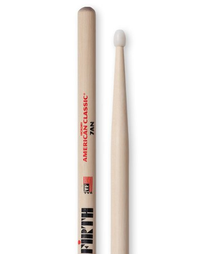 Vic Firth 7AN 1 Pair of American Classic 7A Drumstics with Nylon Tear Drop Tip 4999-7AN