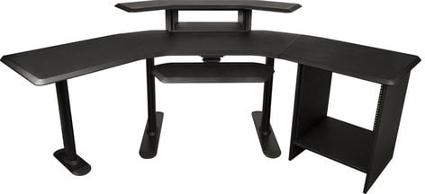 """Ultimate Support NUC-004  Nucleus Series Studio Desk with 24"""" Extension, 12RU Rack, 2nd Tier, 4RU Rack, and Keyboard Tray NUC-004"""