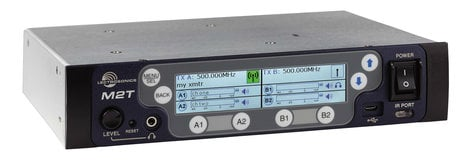 Lectrosonics M2T (Dante) Duet System Wireless Monitor Stereo Transmitter with Dante M2T-DANTE
