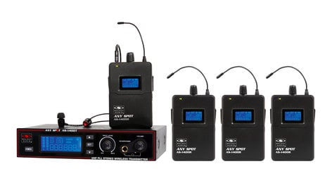 Galaxy Audio AS-1400-4 Wireless Personal Monitor Bandpack System AS-1400-4M