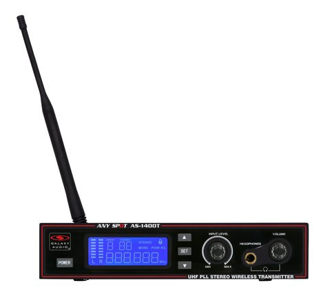 Galaxy Audio AS-1400T Wireless Personal Monitor Transmitter Unit Only AS-1400TM