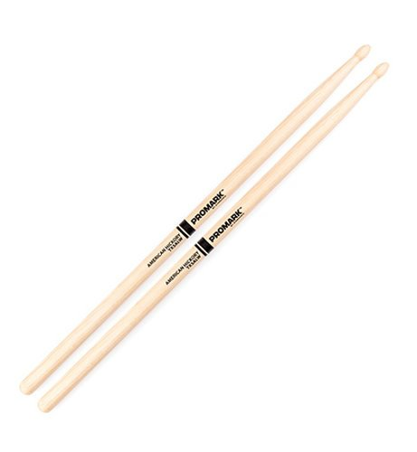 Pro-Mark TX5ALW 1 Pair of American Hickory 5AL Oval Wood Tip Drumsticks TX5ALW