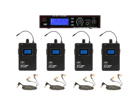 Galaxy Audio AS-1410-4 Wireless Personal Monitor Bandpack System with EB10 Ear Buds AS-1410-4M