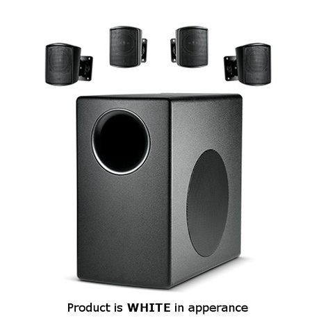 JBL Control 50 Pack Surface-Mount Subwoofer and Satellite Loudspeaker System in White C50PACK-WH