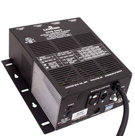 Leviton N6000-D20 4-Channel, 1200W/CH Dimmer/Relay System with DMX Only, 20 A Power Supply Cord N6000-D20
