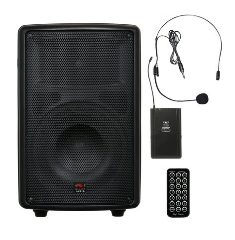 """Galaxy Audio TQ8-20S0N Battery-Powered Portable Sound System with 8"""" Speaker & Wireless Headset, 517.550MHz TQ8-20S0N"""